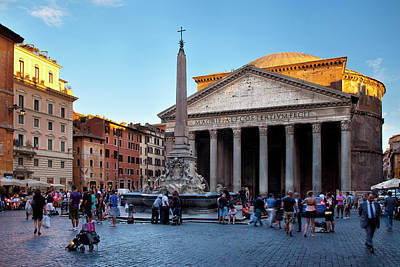 Pantheon Photograph - Setting Sunlight On The Pantheon, Rome by Brian Jannsen