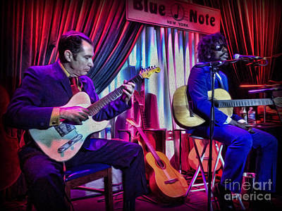 Seu Jorge At The Blue Note Nyc Print by Lee Dos Santos