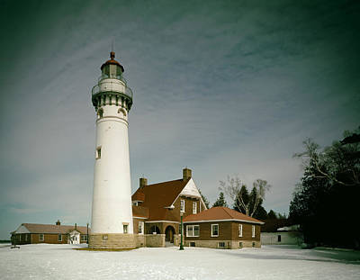 Seul Choix Point Lighthouse In Winter Print by Mountain Dreams