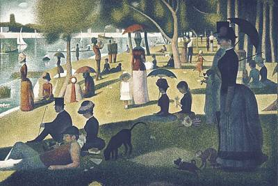 Seurat, Georges 1859-1891. A Sunday Print by Everett