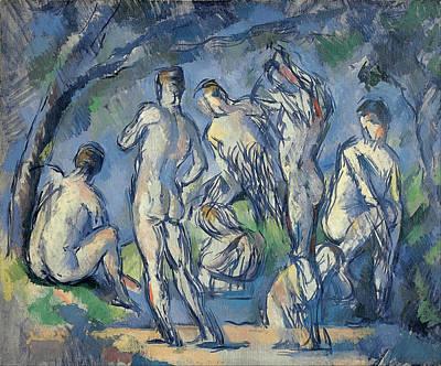 Paul Cezanne Painting - Seven Bathers by Paul Cezanne
