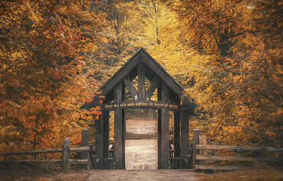 Covered Bridge Photograph - Seven Bridges Trail Head by Scott Norris