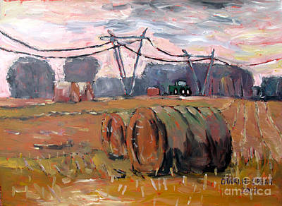 Bales Painting - Seven Forty Seven by Charlie Spear