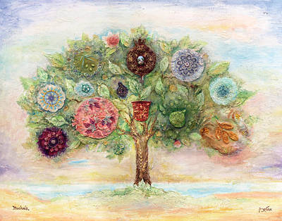 Synagogue Painting - Seven Fruits by Michoel Muchnik