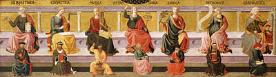 Liberal Painting - Seven Liberal Arts by Domenico di Michelino