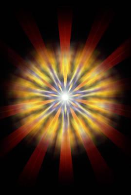 Seven Sistars Of Light Print by Derek Gedney