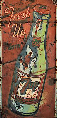 7up Sign Photograph - Seven Up by Douglas Settle