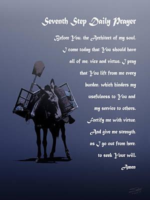 Mule Digital Art - Seventh Step Prayer by Matthew Schwartz
