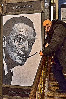 Severe Ordeals. Selfie With Salvador Dali  Print by Andy Za