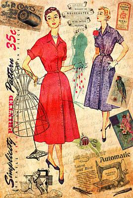 Sewing Print by Elizabeth Budd