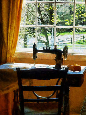Textile Photograph - Sewing Machine By Window by Susan Savad