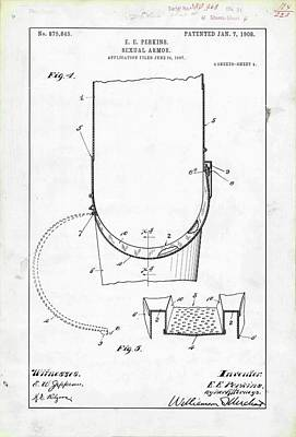 Chastity Belt Photograph - Sexual Armour Patent by Us Patent And Trademark Office