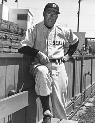 Baseball Uniform Photograph - Sf Seals Manager Lefty O'doul by Underwood Archives