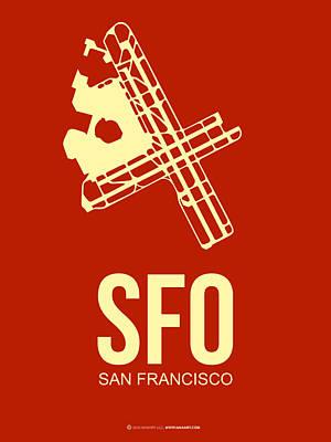 Plane Mixed Media - Sfo San Francisco Airport Poster 2 by Naxart Studio