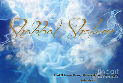 Shabbat Shalom Print by Beverly Guilliams
