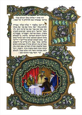 Kiddush Painting - Shabbath Candle Blessing by Shemtov Ben Shlomo