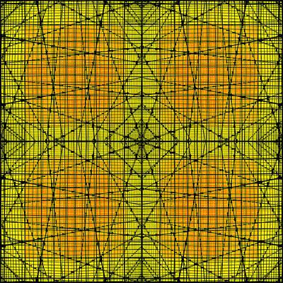 Abstract Pop Digital Art - Shades 17 by Mike McGlothlen