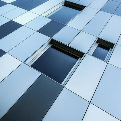 Grid Photograph - Shades Of Blue by Luc Vangindertael