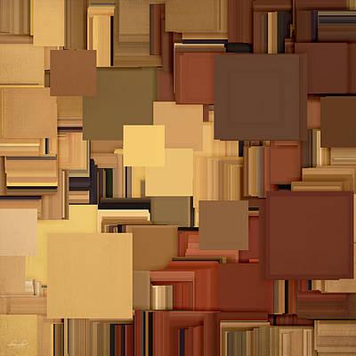 Terra Cotta Digital Art - Shades Of Brown by Lourry Legarde