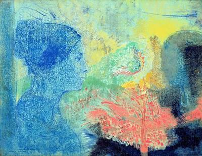 Shades Of Sleep  Print by Odilon Redon