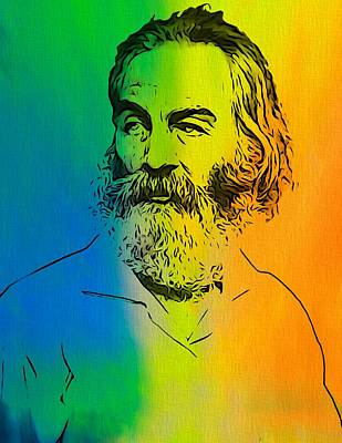 Author Mixed Media - Shades Of Walt Whitman by Dan Sproul