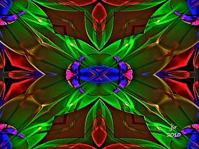 Digital Art - Shadow Fan by Janet Russell