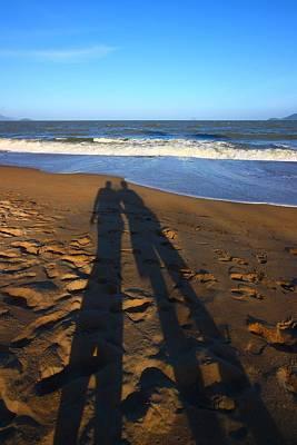 Shadows On The Beach Print by FireFlux Studios