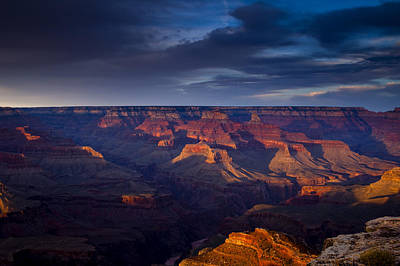 Shadows Play At The Grand Canyon Print by Andrew Soundarajan