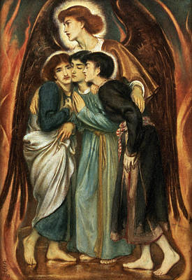 Nabuchodonosor Painting - Shadrach, Meshach And Abednego by Simeon Solomon