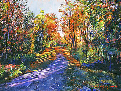 Road Painting - Shady Lane by David Lloyd Glover