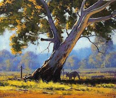 Kangaroo Painting - Shady Tree by Graham Gercken