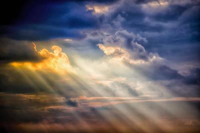 Shaft Of Light Print by Garry Gay
