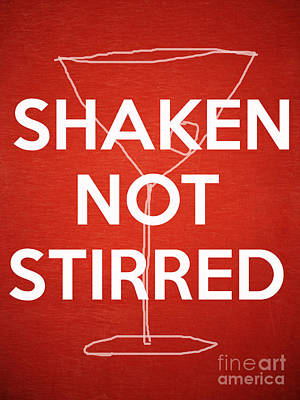 Shaken Not Stirred Print by Edward Fielding