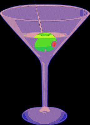 Martini Painting - Shaken Not Stirred by Florian Rodarte