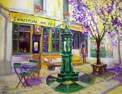 Shakespeare And Co Bookshop Print by Paul Weerasekera