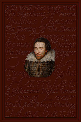Shakespeare Print by Andrew Fare