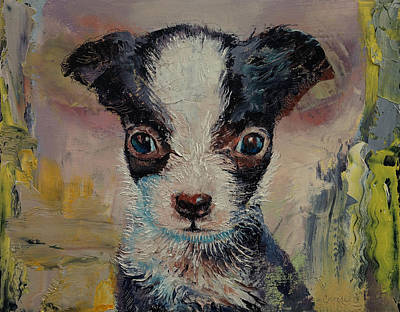 Chihuahua Dog Art Painting - Shakespeare by Michael Creese