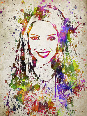 Shakira Drawing - Shakira In Color by Aged Pixel