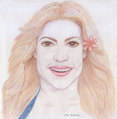 Shakira Drawing - Shakira by M Valeriano