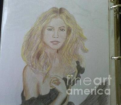 Shakira Drawing - Shakira by Josephine Parrilla