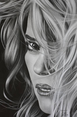 Shakira Drawing - Shakira by Mitchell Ryan
