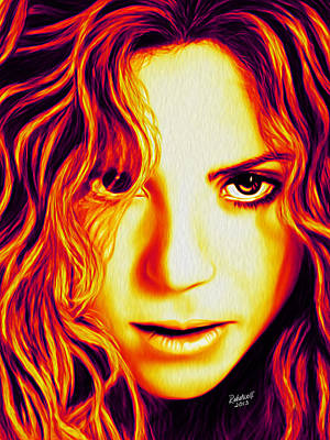 Shakira Digital Art - Shakira by Rebelwolf