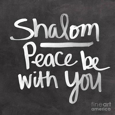 Passover Mixed Media - Shalom by Linda Woods