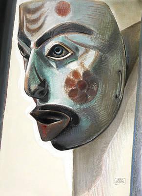 Shaman Singing Mask Print by Ann Miller