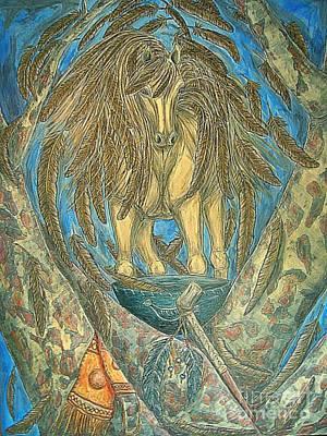 Shaman Spirit Print by Kim Jones