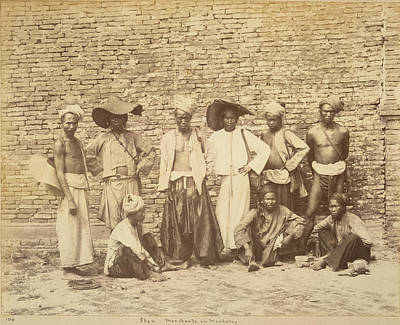 Myanmar Photograph - Shan Merchants by British Library