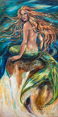 Linda Olsen Painting - Shana The Mermaid by Linda Olsen