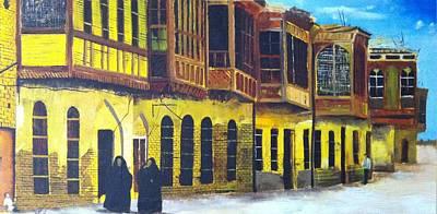 Old Iraqi City Painting - Shanasheel Of Old Baghdad by Rami Besancon