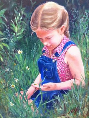 Denim Drawing - Shandra by Mona Jean Clark