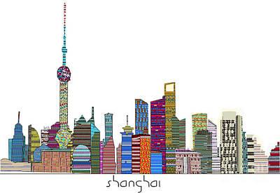 Shanghai City Print by Bri B